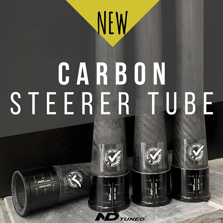 Finalmente disponibile il Cannotto di sterzo in Carbonio ND Tuned