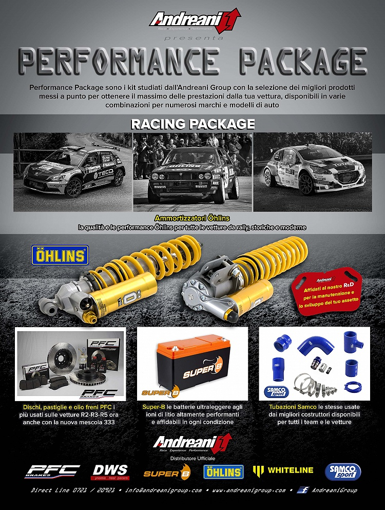 Racing package for rally cars