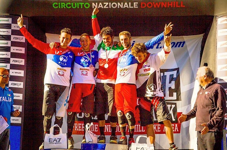 Petrucci of Team Cingolani wins the Italian Downhill Championship at the Abetone Gravity Park
